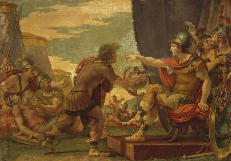 Giuseppe Cades, Alexander the Great Refuses to Take
