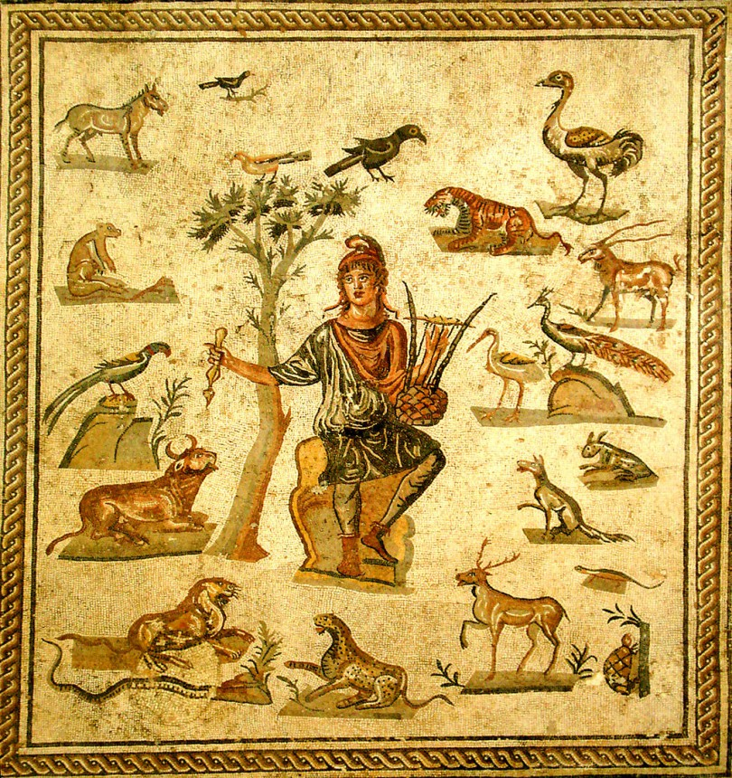 Giovanni Dall'Orto, Orpheus surrounded by animals