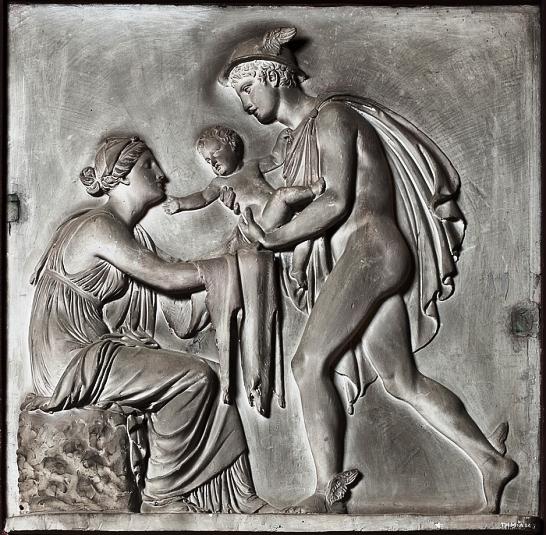 Bert Thorvaldsen - 1809 - Mercury Brings Bacchus to Ino