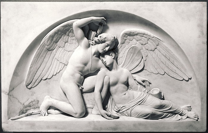 Bert Thorvaldsen - 1810 - Cupid Revives Psyche