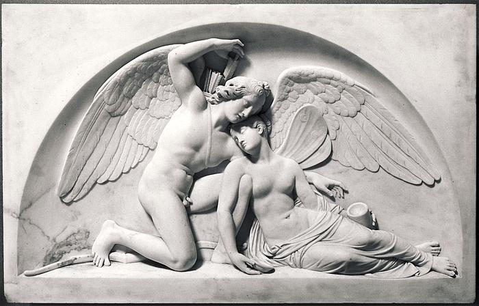 Bert Thorvaldsen - 1810 - Cupid Revives Psyche