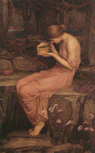 Psyche opening the golden box - J.W. Waterhouse