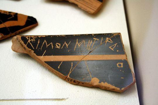 Ostracism - Cimon - Ostraca_Stoà_of_Attalus_Museum_by_Giovanni_Dall'Orto