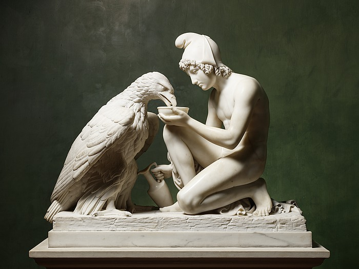 Bert Throvaldsen - 1817 - Ganymede with Jupiter's Eagle