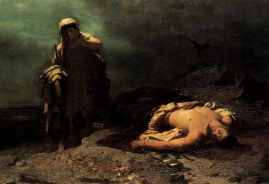 Antigone in front of the dead Polynices